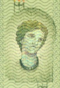 Η εικόνα της Ευρώπης στο νέο χαρτονόμισμα των 5 ευρώ που παρουσιάζεται από την ΕΚΤ στις 10/1